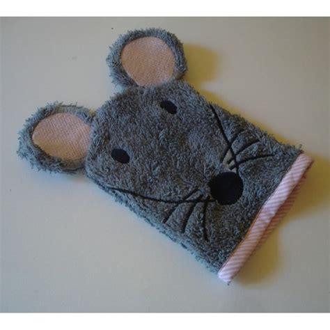 gants de toilette souris accueil animaux motifs de