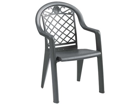 grosfillex resin stacking dining arm chair sold