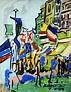 France, painting, Karl Krogstad, gallery, Ballard, Seattle ...