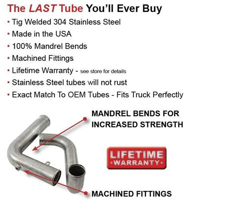 Kenworth Coolant Tube Stainless Steel Cat Engine