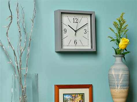 Wall clocks └ clocks └ home décor └ home & garden all categories antiques art automotive baby books business & industrial cameras & photo cell phones & accessories clothing, shoes & accessories coins & paper money collectibles computers/tablets & networking consumer. Bernhard Products Square Wall Clock 9 Grey Wall Clock/Desk ...
