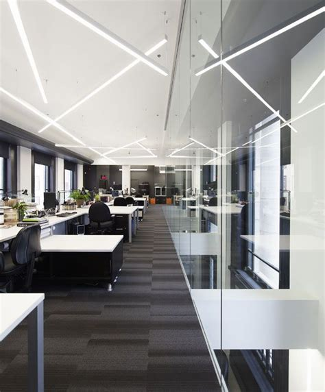 led lighting for office space lemaymichaud québec design office corporate