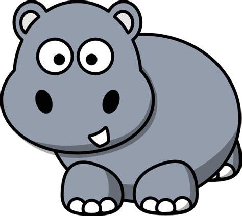 Hippo Clip Side Hippo Clip At Clker Vector Clip