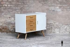 Commode Sur Pied : meuble commode vintage pieds compas ~ Teatrodelosmanantiales.com Idées de Décoration