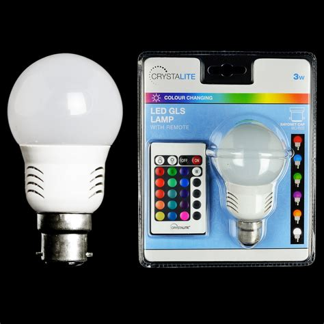 bc led colour changing bulb with remote