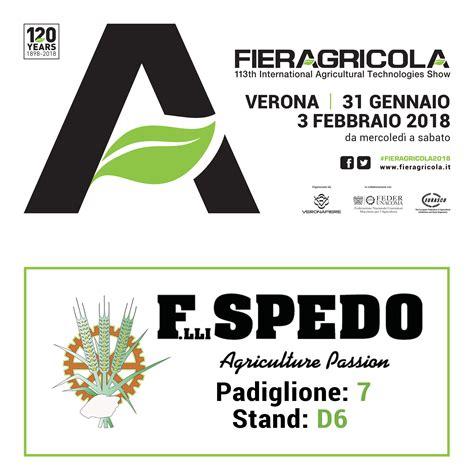 Flli Spedo  Fiera Agricola Verona 2018