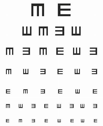 Eye Chart Printable Tumbling Preschool Charts Test