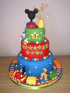Mickey Mouse, Clubhouse and Friends 3 Tier Birthday Cake ...