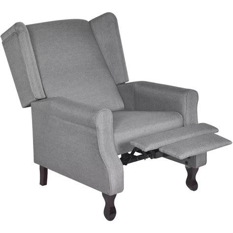 poltrona tv poltrona tv in tessuto grigio regolabile reclinabile