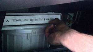 How To Change Cabin Air Filter In 2010 Mitsubishi Lancer