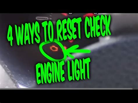 how to reset engine light how to reset check engine light codes 4 free easy ways