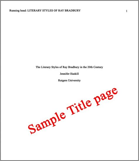 sample title abstract and title page apa pictures to pin on pinterest