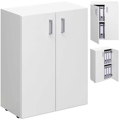 White Storage Cupboard With Doors by White Office Cupboard Wooden Cabinet Office Storage Shelf