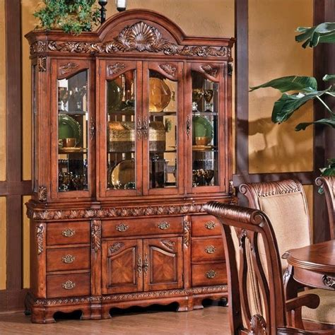 Cherry Buffet And Hutch - steve silver company harmony buffet and hutch in rich