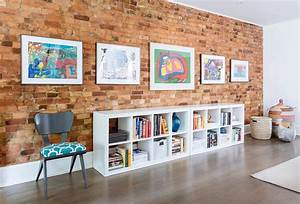 100 brick wall living rooms that inspire your design for How to decorate a brick wall
