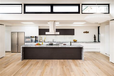 flat top stove Kitchen Contemporary with built in wall