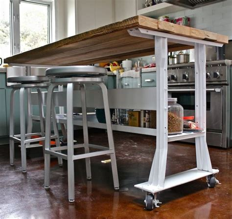 kitchen island table on wheels 17 best ideas about narrow kitchen island on