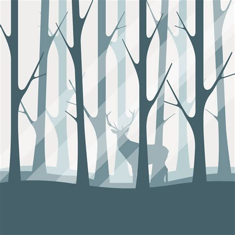 clipart vector deciduous forest silhouette illustration free