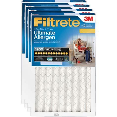 Filtrete 20x25x1, Healthy Living Ultimate Allergen Reduction HVAC Furnace Air Filter, 1900 MPR ...