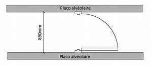Poser Bloc Porte Entre 2 Murs : installation d 39 une porte entre 2 cloison alveolaire ~ Dailycaller-alerts.com Idées de Décoration
