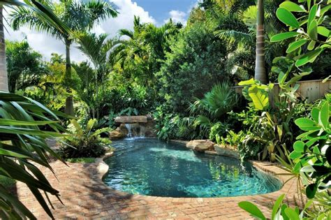 great pool landscaping ideas tropical small backyards