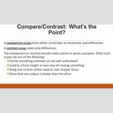Comparecontrast Essay Structure  Ppt Video Online Download