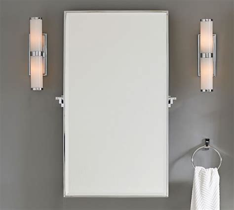 Pivot Bathroom Mirror Chrome by Hewitt Pivot Mirror Pottery Barn