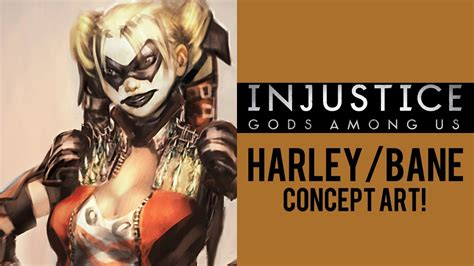 injustice gods among us harley quinn and bane concept