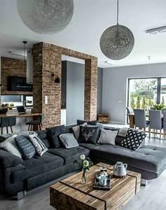 Deco Avec Du Gris : d co salon formidable studio avec un salon gris et blanc ~ Zukunftsfamilie.com Idées de Décoration