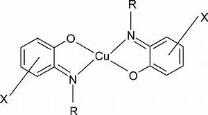 Chemical Structure Of Copper Ii  Complexes Of Salicylideneaniline