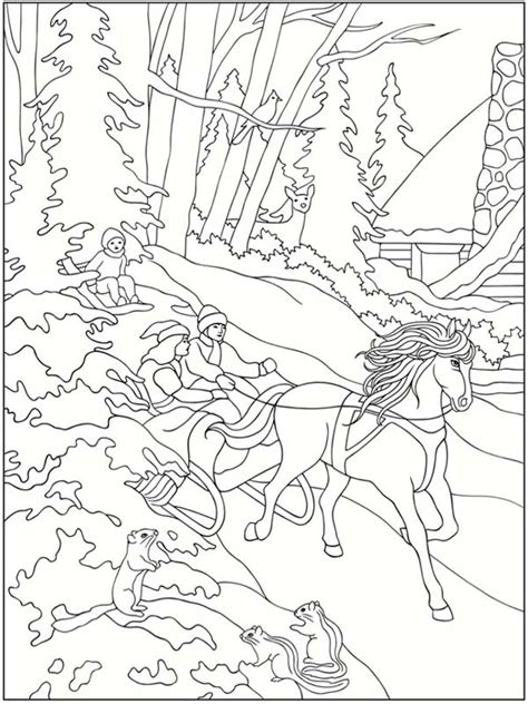 winter coloring 5 free winter coloring pages realistic coloring pages