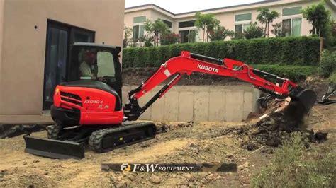 kubota excavator youtube