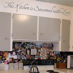 kitchen quotes love quotesgram With kitchen cabinets lowes with bible words stickers