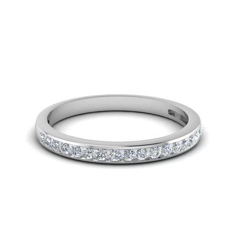 channel set  diamond women wedding band   white