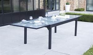 Table Aluminium De Jardin : grand salon de jardin gris anthracite 12 fauteuils et ~ Teatrodelosmanantiales.com Idées de Décoration