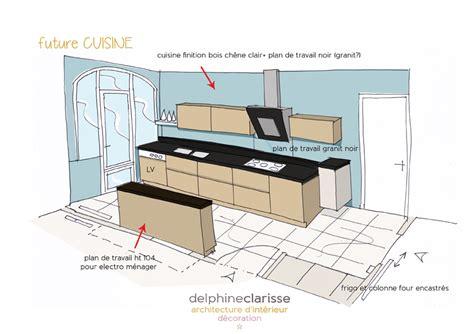 croquis cuisine rénovation d 39 une salle à manger et cuisine travaux en cours architecture d 39 intérieur