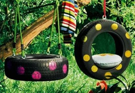 garden decorations  kids toys   recycled tires