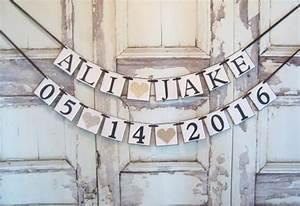 bride groom name banner bridal shower banner bridal With wedding shower banner ideas