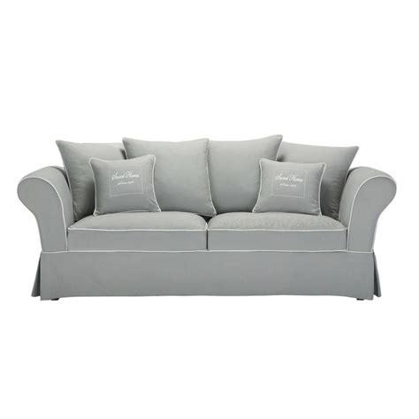 canape moelleux 3 places canapé 3 4 places en coton gris home maisons du monde