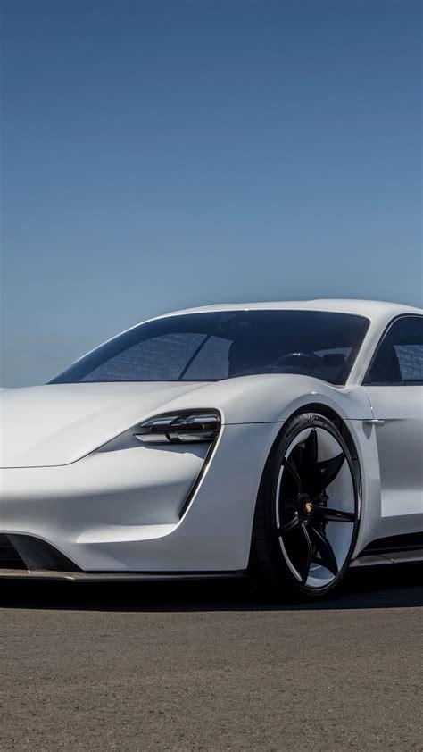wallpaper porsche taycan electric car supercar