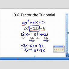 96 Factor Ax2 + Bx + Cavi Youtube