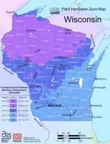 Planting Zones Wisconsin Map