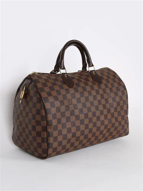 louis vuitton speedy  damier ebene canvas luxury bags