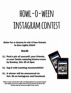 howl o ween instagram contest reid park zoo With facebook photo contest rules template