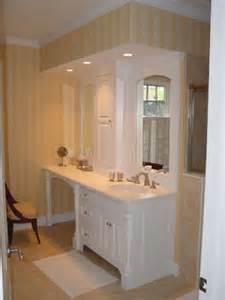 bathroom vanity makeup area traditional bathroom