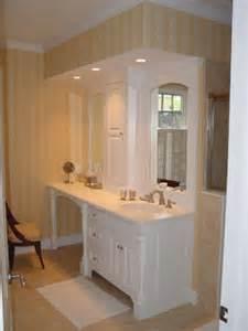 bathroom vanity makeup area traditional bathroom