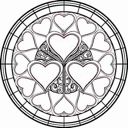 Stained Coloring Glass Pages Window Printable Clipart