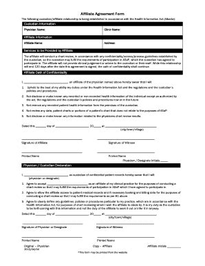 affiliate agreement template affiliate agreement form fill printable fillable blank projectmanagement template
