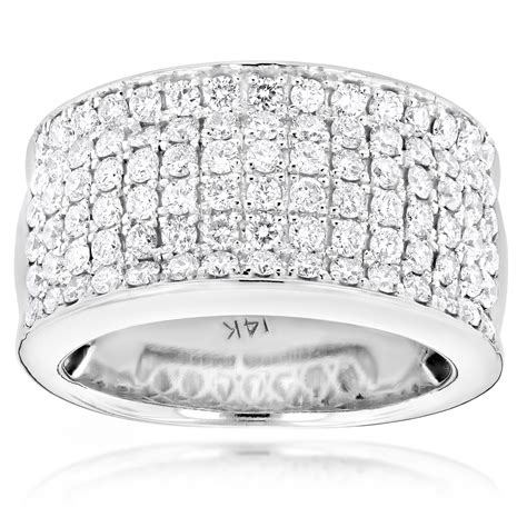 gold mens designer diamond wedding band ct