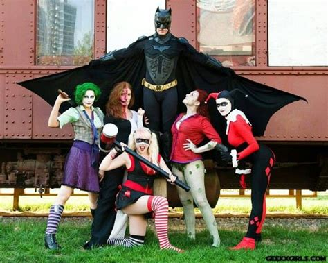 batman and female villains cosplay batman cosplay cosplay girls cosplay